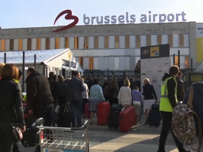 Raw: Brussels Airport security delays travelers