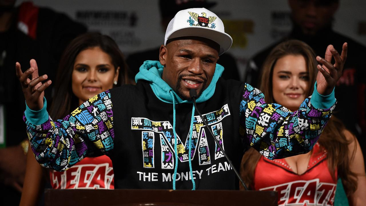 "Floyd Mayweather's company, Mayweather Promotions, has filed for the trademarks ""TMT 50"" and ""TBE 50,"" according to the U.S. Patent & Trademark website."