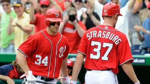 Stephen Strasburg and Bryce Harper are peaking at the right time.