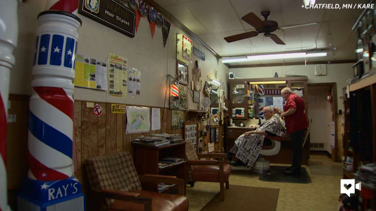 Twin barbers are each other's favorite customers
