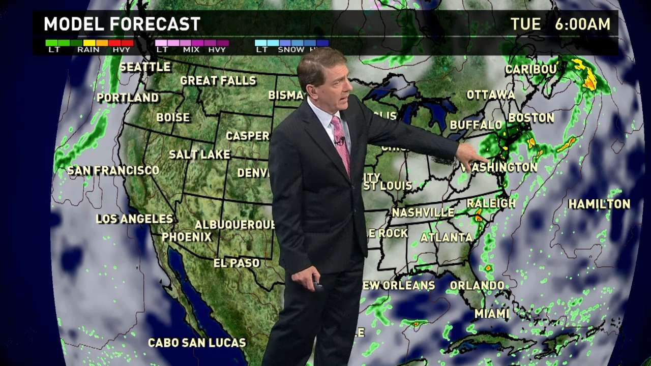 Tuesday's forecast: Still soggy in the East