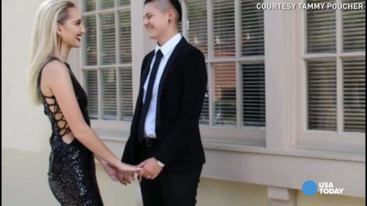 Students at a Florida high school crowned a same-sex couple prom king and queen, a first in the school's 185-year-old history. The pair hopes it helps others by raising awareness about LGBTQ issues.