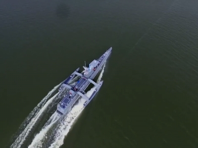 Pentagon shows off largest self-driving ship