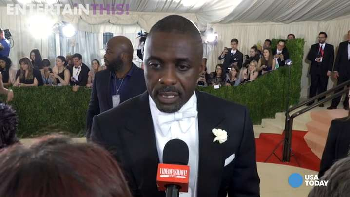 2016 Met Gala co-chair Idris Elba hits the red carpet