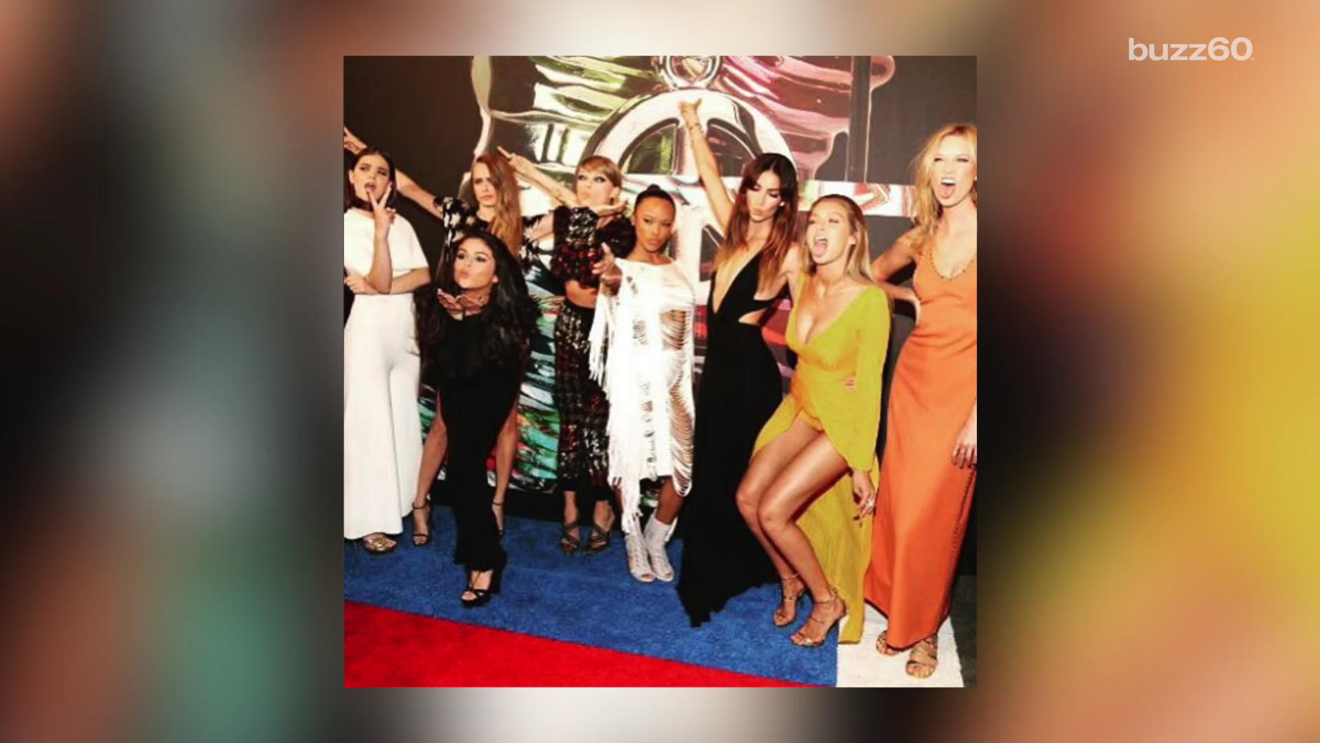 """She started """"#SquadGoals"""" and everyone wants in but even Taylor Swift can only handle so much.  Here's why it's possible there are only five ladies in her circle that are actually her good friends. Keleigh Nealon (@keleighnealon) has the story."""