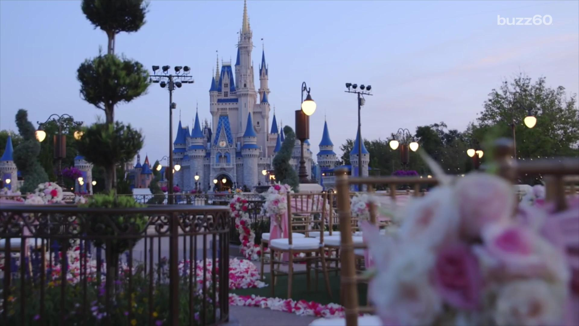 You can get married at Cinderella's castle but it will cost you!