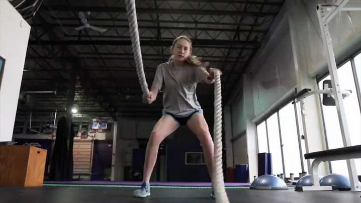 Teen athlete is raising the bar for her male teammates
