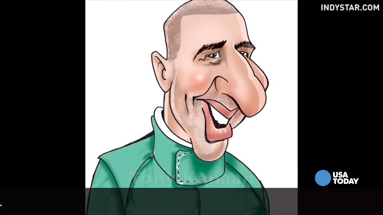 Can you name the Indy 500 winner from his caricature?