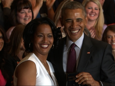 Obama honors Conn. woman as Teacher of the Year