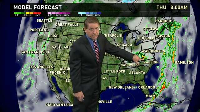 Wednesday's forecast: Rain on both coasts