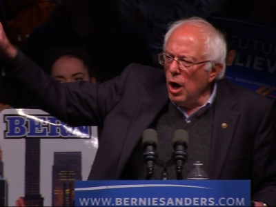 Bernie Sanders is steering clear of Indiana's primary, opening his rally in Kentucky on Tuesday night by pointing to his progress in the Democratic presidential campaign. (May 3)