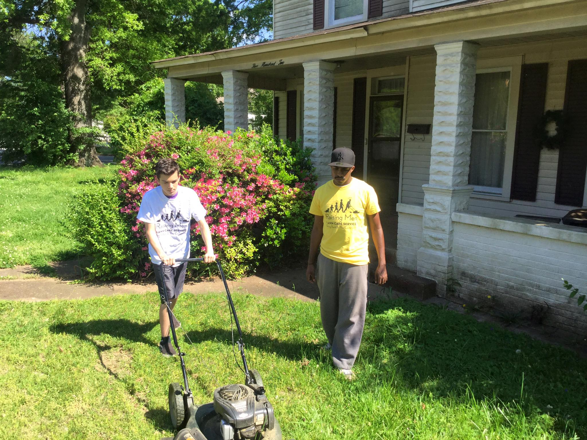 These lawn guys only cut lawns for those who can't