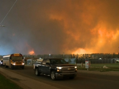 Canadian authorities are telling all of Fort McMurray's 80,000 residents to evacuate due to a massive wildfire that is said to be destroying parts of the city. Fort McMurray is an oil center in western Canada. (May 4)