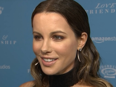 Kate Beckinsale was joined at the Los Angeles premiere of her new movie, 'Love and Friendship,' by her ex, Michael Sheen, and his partner, Sarah Silverman. (May 4)