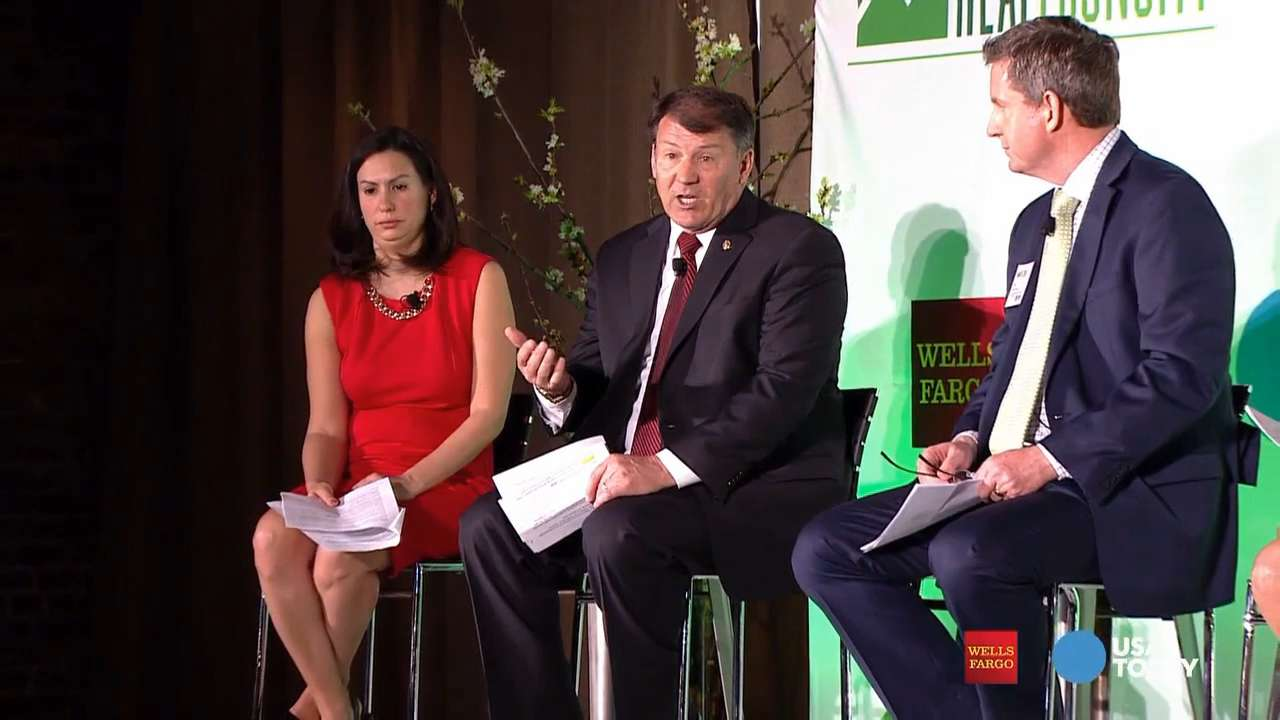 Speaking on USA TODAY and Wells Fargo's Real Economy panel in South Dakota, Sen. Mike Rounds said some companies worry about finding enough workers in South Dakota when what they should really worry about is bringing good jobs.