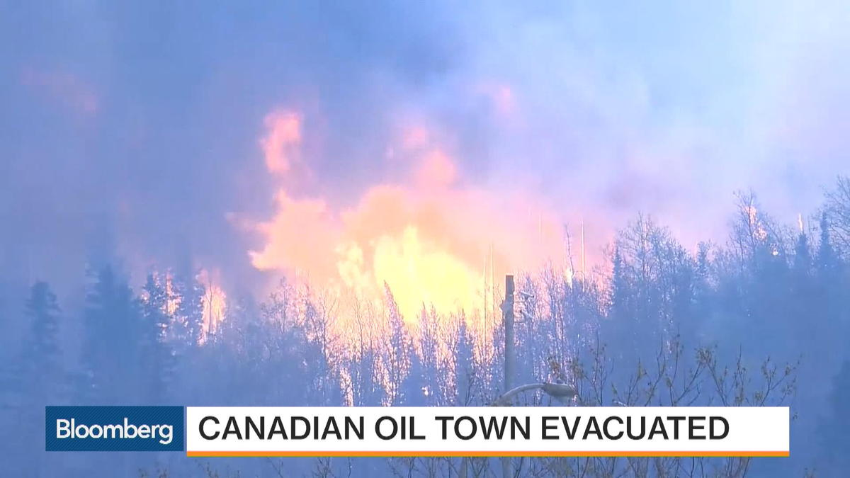 """A wildfire has forced the evacuation of Fort McMurray in Alberta, Canada. The city is Alberta's oil-producing capital. Canada Managing Editor David Scanlan reports. He speaks on """"Bloomberg Markets."""""""