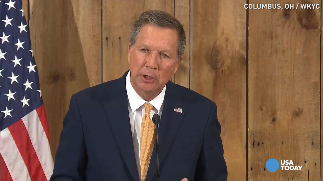 Ohio Gov. John Kasich in Columbus on May 4, 2016.