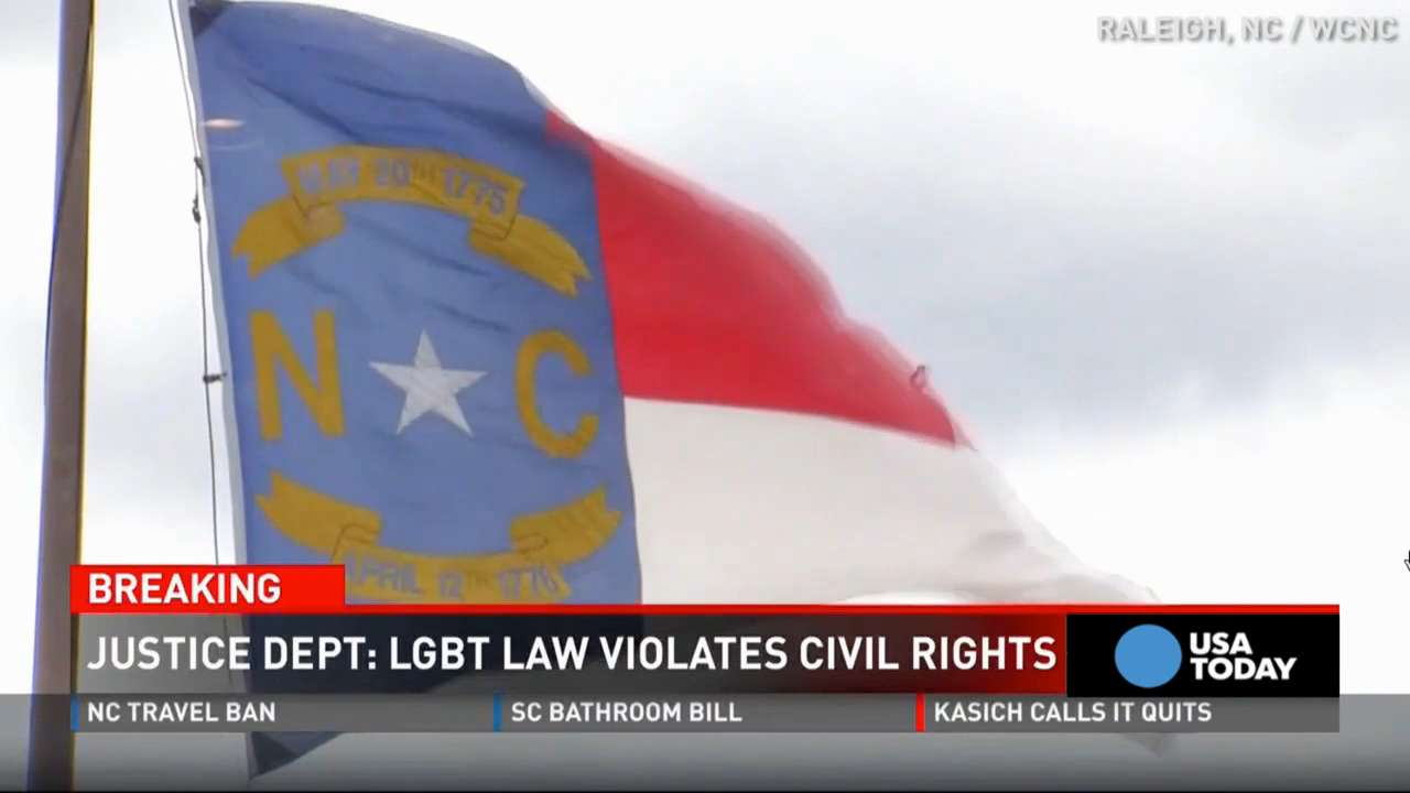 The Justice Department says North Carolina's bathroom law violates the Civil Rights Act, warning the state it could lose federal money if the law isn't changed. Here's how local lawmakers reacted.