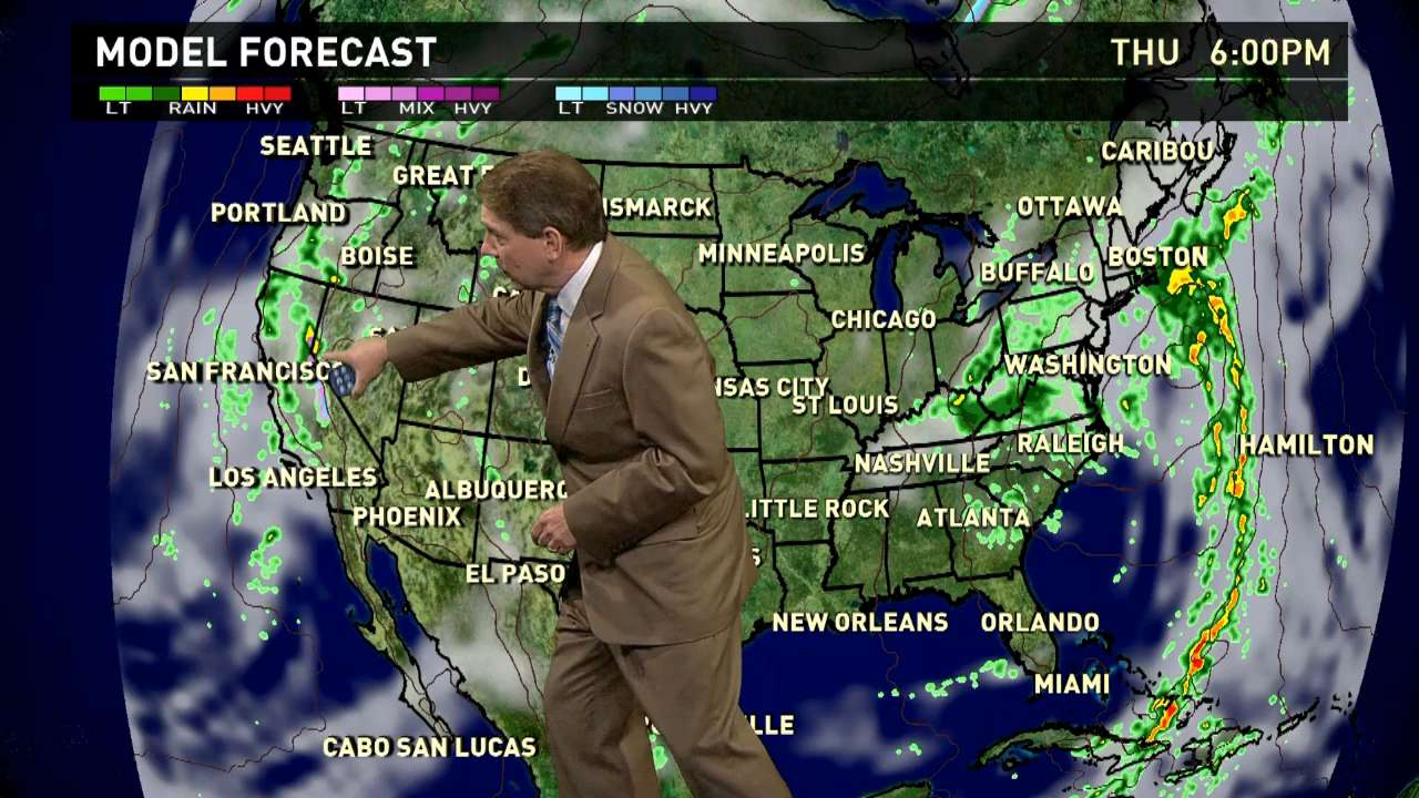 Thursday's forecast: Rain continues along West coast