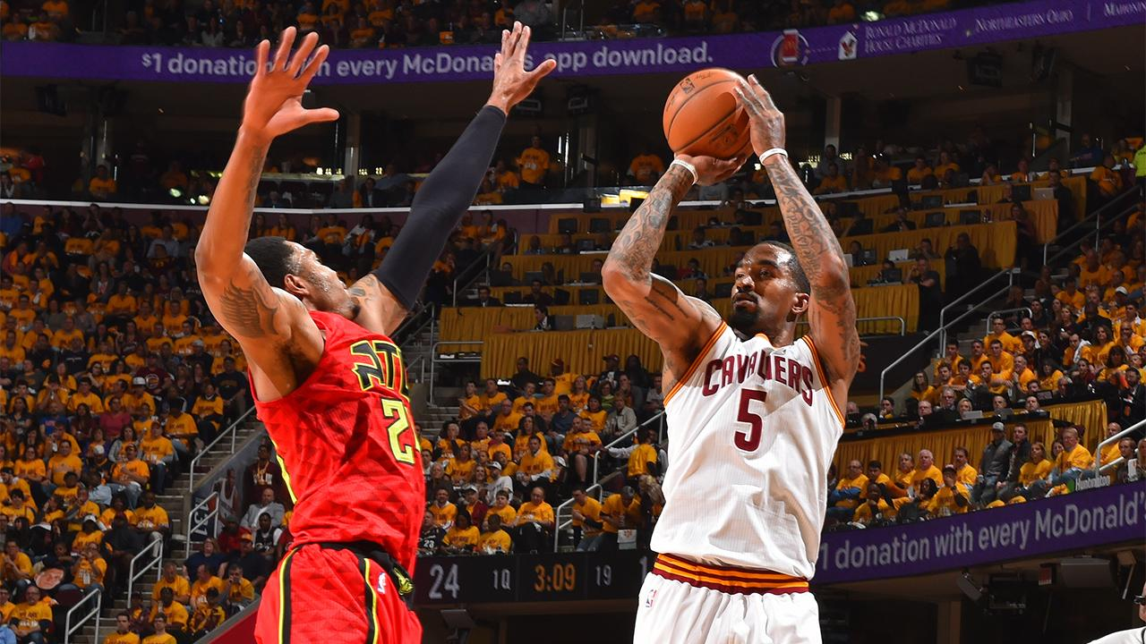 The Cavaliers have set an NBA playoff record by making 25 3-pointers in Game 2 against Atlanta on Wednesday night.