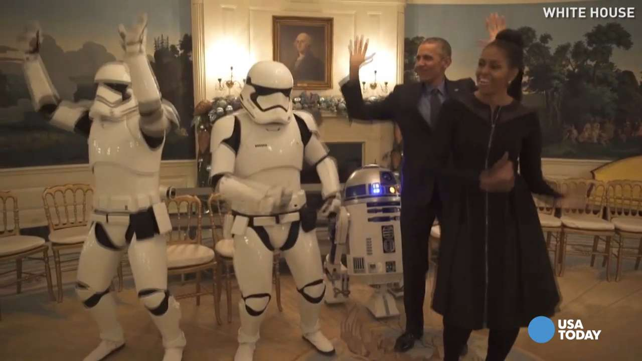Obamas v. stormtroopers: Who dances better?