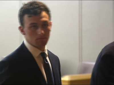 Former Heisman Trophy winner Johnny Manziel made his first courtroom appearance in Dallas after his indictment in a domestic violence case. (May 5)