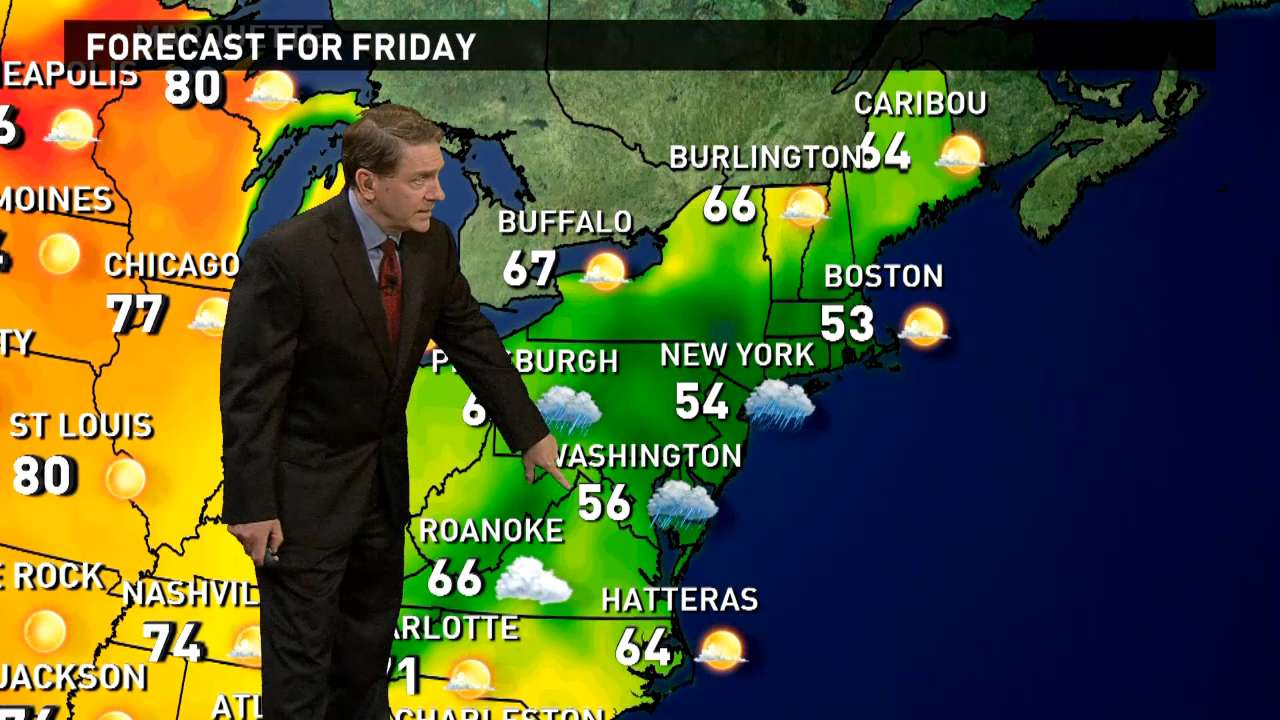 Friday's forecast: Dreary and chilly in East