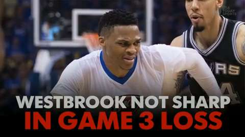 Westbrook not sharp in Game 3 loss