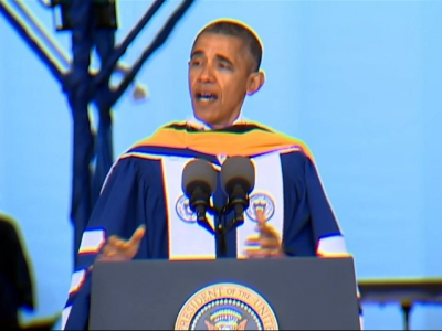 Obama Tells New Grads Race Relations 'Better'
