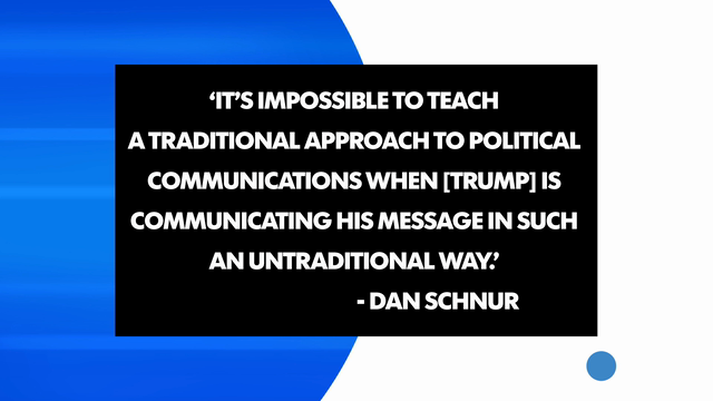 College professors are having trouble fitting Donald Trump's political rise into their curriculum. USA TODAY College editor Taylor Maycan shares a few quotes.
