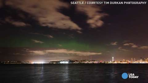Watch the Northern Lights dance over Seattle