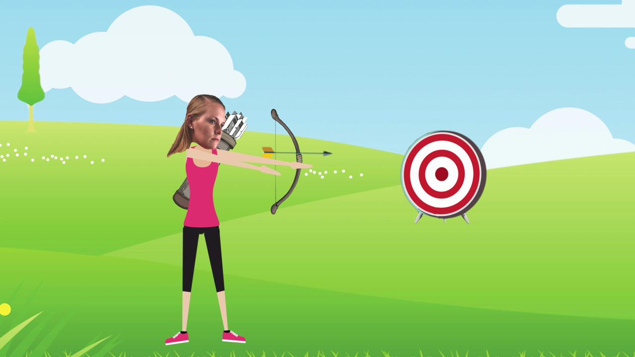 An Olympian gives a lesson on the art of archery.