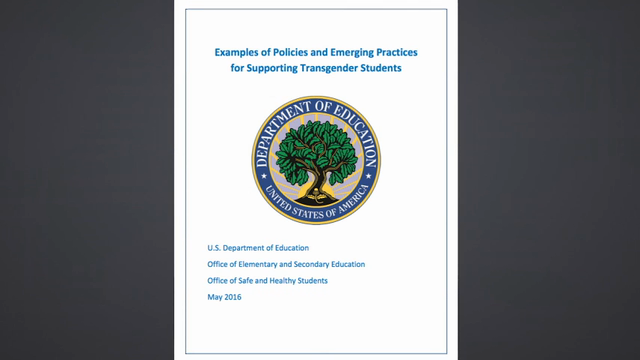 U.S. gives guidance on transgender students