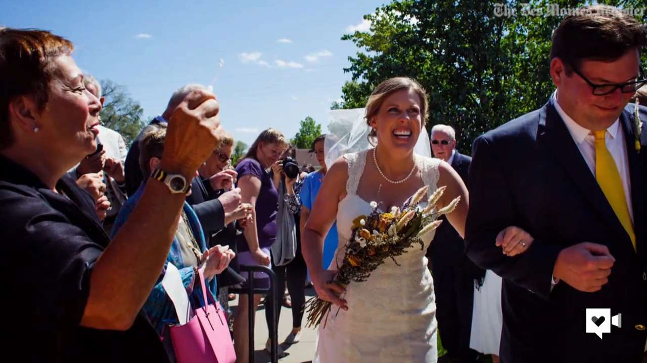 In sickness and in health: Bride's journey to aisle with MS