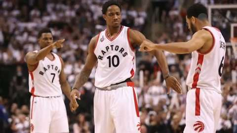 Kyle Lowry (7) of the Toronto Raptors was very good in Game 7 vs. the Miami Heat.
