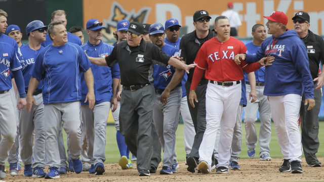 Rangers, Blue Jays Await Penalties After Fight
