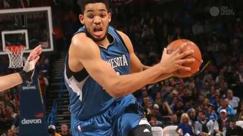 Karl-Anthony Towns unanimous NBA Rookie of the Year