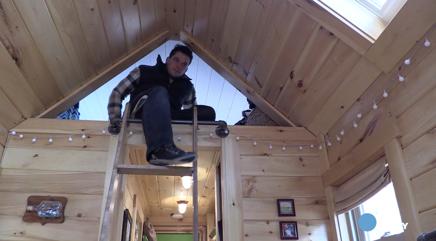 Inside one man's tiny house