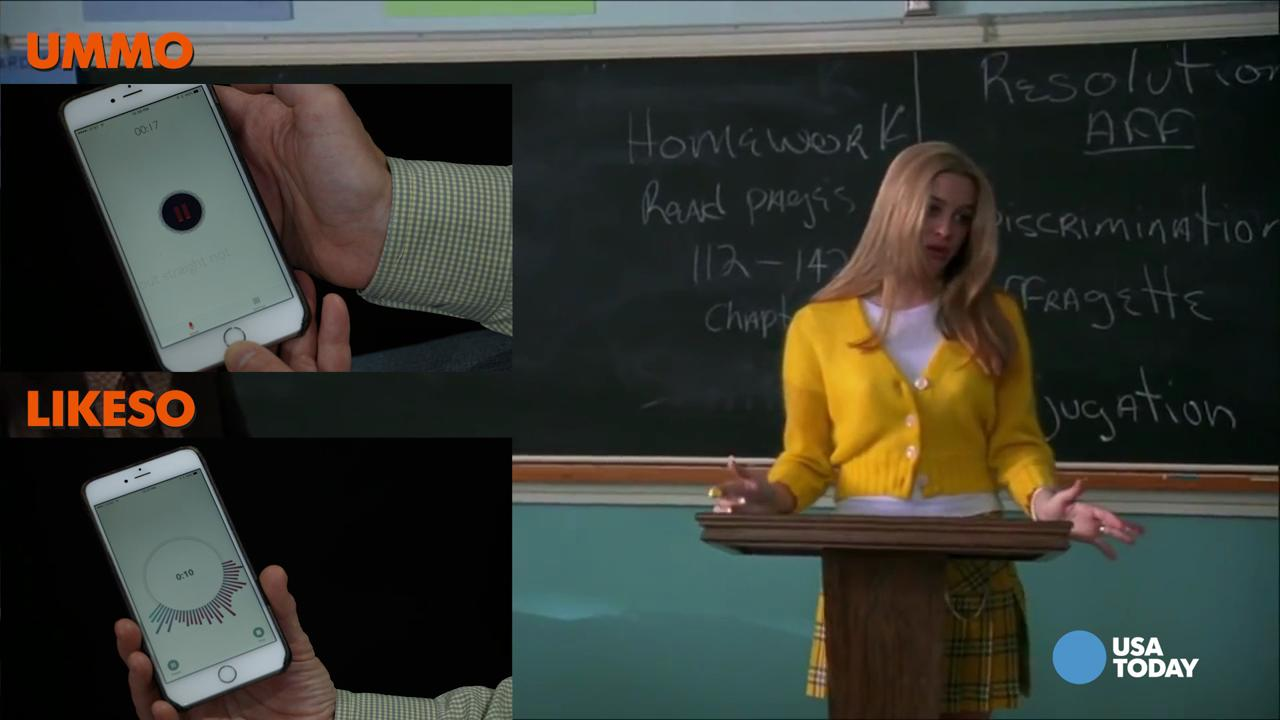Like totally: we analyzed Clueless with two speech apps