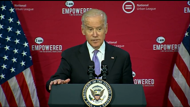 Biden Pledges to Stand By Urban League