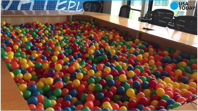 Video games, a ball pit and cereal bars...the coolest place to work ever?