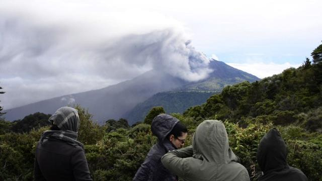 A volcano erupts near the capital of Costa Rica, choking surrounding communities with smoke and ash.Video provided by AFP