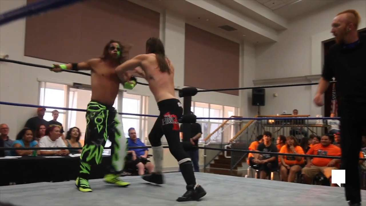 Steve Damico, also known as Syther to his fans, is a kindergarten teacher by day and a crazy, green-faced wrestler by night. Video shot by Jack Hardman from The News-Press.