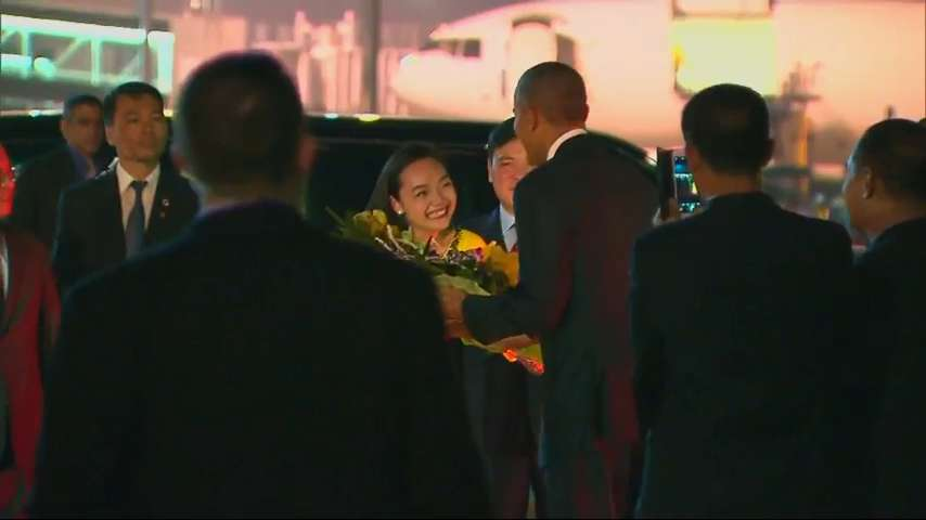 President Obama arrives in Hanoi