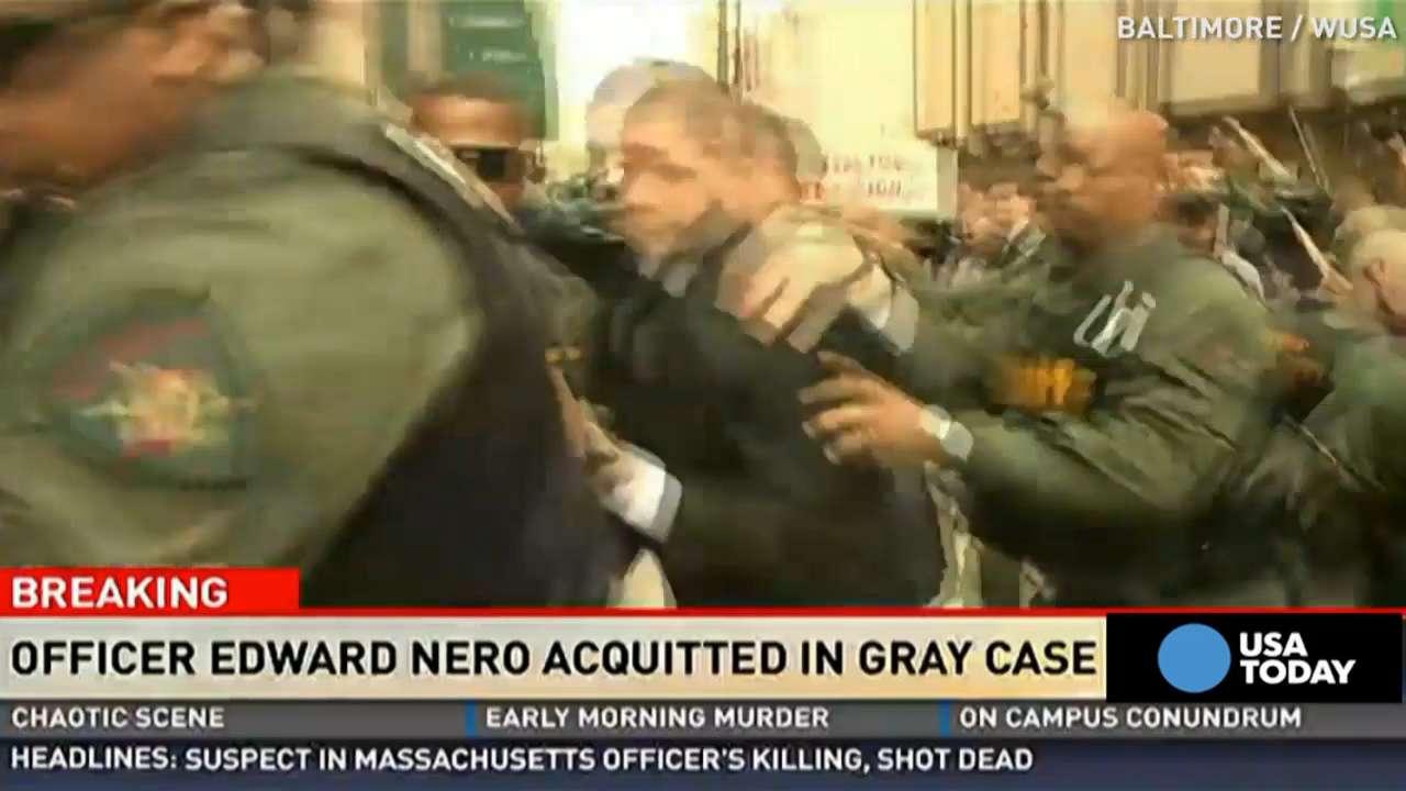Baltimore Police Officer Edward Nero was found not gulty of misconduct in office and reckless endangerment in the death of Freddie Gray. Gray died shortly after being taken into police custody in April of 2015.