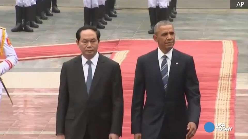President Obama is visiting Vietnam this week to meet with leaders there. USA TODAY World News Editor Owen Ullmann explains what this means for relations between our two nations.