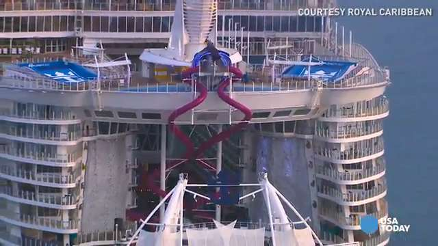 Plunge down the tallest slide at sea