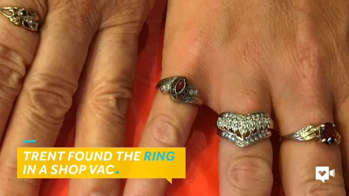 The missing ring held sentimental value for the long-lost owner.