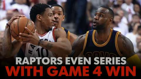 Raptors even series with game 4 win