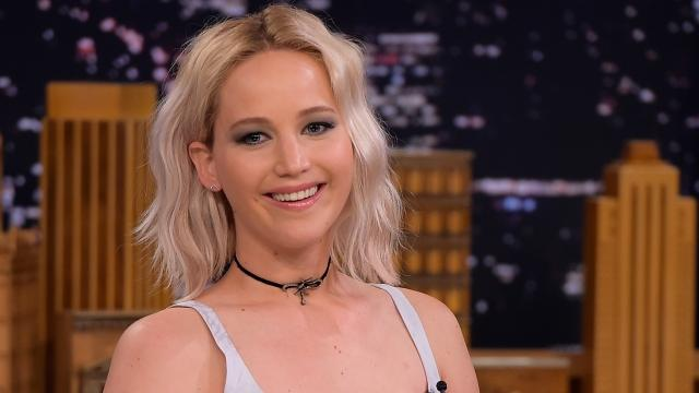 Jennifer Lawrence gets snotty (literally) on 'The Tonight Show'